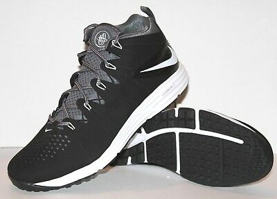 NEW NIKE HUARACHE 4 LAX TURF LE TF LACROSSE Shoes Mens 13 Black 684699-010