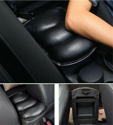 Car SUV Center Box Armrest Console PU Soft Pad Cushion Cover Durable Wear Black