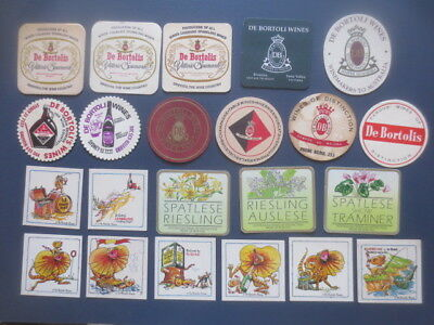 22 different De BORTOLIS WINES,1970,- 2000,s Issued  Advertising COASTERS