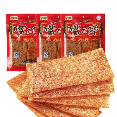 1 Bag 130g Chinese Specialty Snack Food Spicy Slice Gluten Foods Kit# 辣条 w/