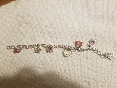 Sterling Silver .999 Bracelet With Charms Hello Kitty