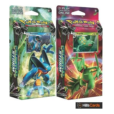 Both Pokemon Celestial Storm Theme Decks: Swampert + Sceptile - TCG Cards SM-7