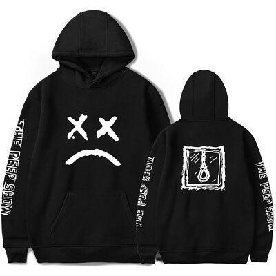 UK Hip Hop Hoodie Rapper Sad Face Sweatshirt Jumper Jacket Boys Jumper Lil Peep