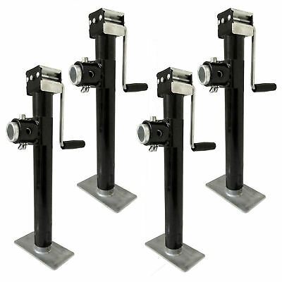 Set of 4 Heavy-Duty Jockey Stand/Jack Stand Caravan Jacks 2000lbs w/ Stabiliser