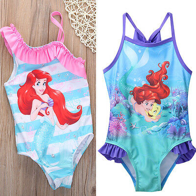 Kids Girls Swimming Bikini Mermaid Swimwear Swimsuit Beach Clothes Clothing Gift