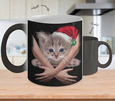Color Changing Mug - BEST GIFT FOR CAT LOVERS -11oz Coffee Mug Tea Cup Gifts
