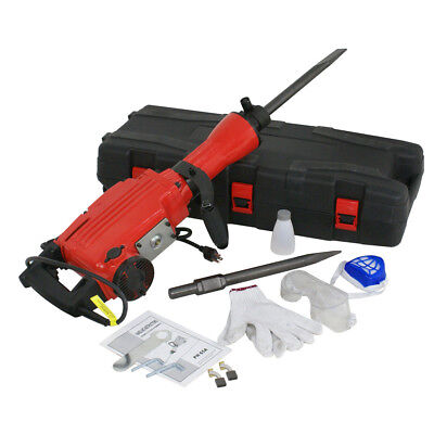 Electric Demolition Jack Hammer 2200W Concrete Breaker w/Point & Flat Chisel Bit