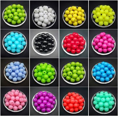 Wholesale 6 /8 /10 /12 mm Acrylic Round Pearl Spacer Loose Beads Jewelry Making