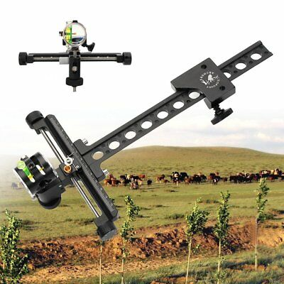 Bow Sight Single 1 Pin 0.059'' Micro Adjustable For Compound bow hunting target
