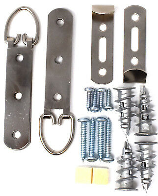 Secure Heavy Duty Large Picture Frame Mirror Hanging Kits + Plasterboard Fixings