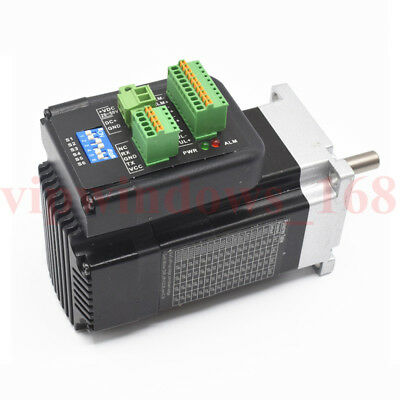 140W Nema23 Integrated Brushless Servo Motor Driver 3ph 3000RPM 0.45Nm CNC Mills