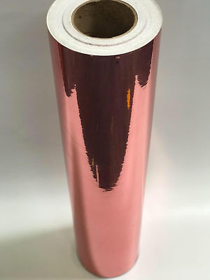 Rose Gold Chrome Mirrored Self Adhesive Sign Vinyl Decorative Film a4/rolls