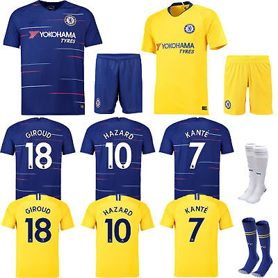 2018/19 New Soccer Home Kit Kids Jersey Short Sleeve & Shorts & Socks Team Suit