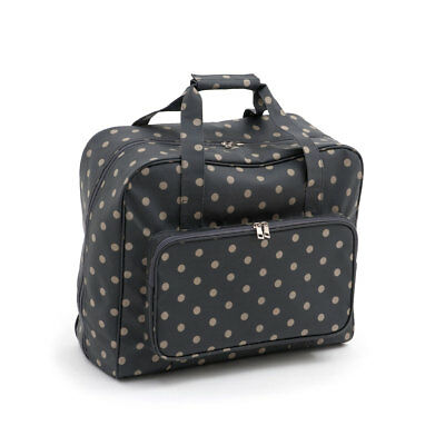 HobbyGift MR4660263 | PVC Charocal Polka Dot Sewing Machine Bag | 20x43x37cm