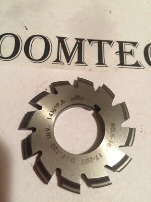"""#5 18P 17-20T 14.5PA 7/8""""bore National Gear Cutter Machinist Milling Tool Hob"""
