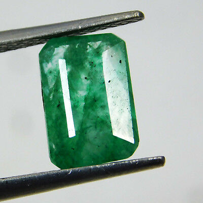 Natural 2.35 Cts. Certified Emerald Cut Colombian Loose Emerald Gemstone. 527R