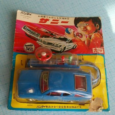 Vintage Japanese Antique BANDAI Tin Toy Car Handle Control Boys Toy