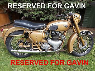 BSA A10 Gold Flash 650 cc1954 V5 LAST OWNER 12 YEARS