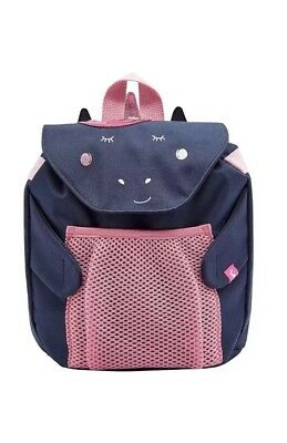 JOULES Girls Junior Buddie Character Rucksack - Navy & Pink Unicorn BNWT £24.95