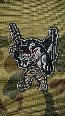 New Shark Weapons Defendor Multi Tactical Morale Airsoft Patch Australia Seller