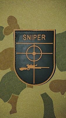 New Sniper Target Khaki Black Tactical Morale Airsoft Pvc Patch Australia Seller