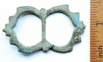 Ancient Old Bronze Ornament Decorated Buckle (JUL05)
