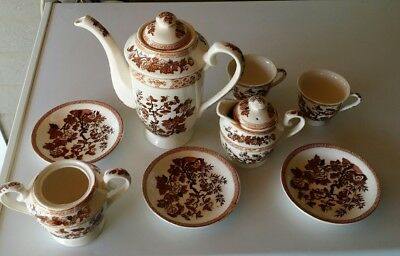 10 Piece Vintage Nasco Indian Tree Demitasse Coffee/Tea  Service - SEE PICTURES!