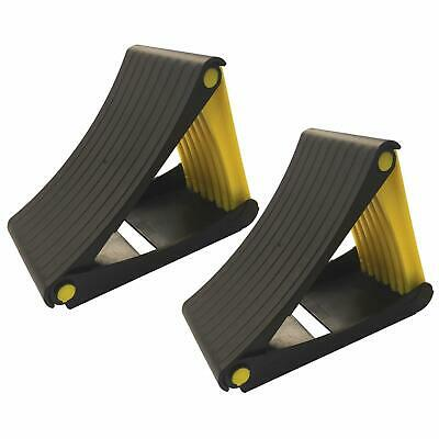 Pair Of Collapsible Folding Wheel Chocks 2 X Heavy Duty Automtive Chock 2 Tonne