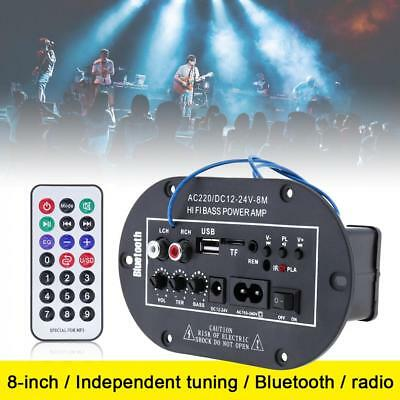 HiFi Bluetooth Power Amplifier Mini Bass Audio Stereo Amp USB SD TF FM Mic Input