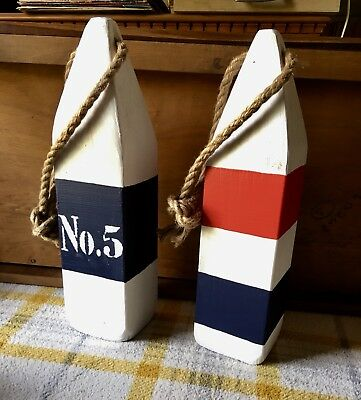 Nautical Wooden Lobster Buoy Coastal Decor Door Stop House Number Table Numbers