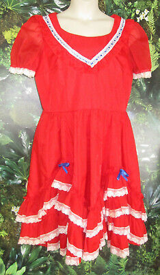 REDUCED Square dance red dress L/XL unbranded