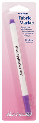 Hemline Fabric Marker Vanishing Pen for Dressmaking, Sewing,Quilting Etc.