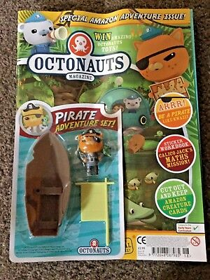 CBEEBIES - OCTONAUTS MAGAZINE - ISSUE 18 pirate adventure set