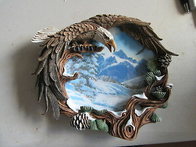 "The Hamilton Collection Four Seasons of the Eagle ""Winter Solstice"" Plate, COAq"