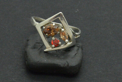 Antiquarian Silver Ring with gemstones. 20 Century. 10gr