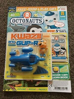 Cbeebies - Octonauts Magazine Issue 81 With Gup R And Kwazzi Play Set