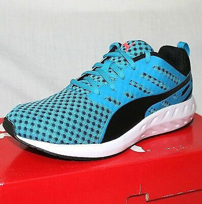 Puma FLARE Mens Blue Cushioned Road Running GYM Fitness Sports Shoes Trainers Sz