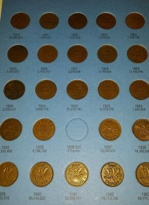 1920 to 2011 Canada Complete small cent collection