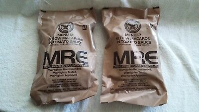 2 Us Mre Ration Packs Menu 12,vegetarian,camping,hiking,fishing,airsoft,survival