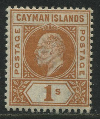 Cayman Islands 1901 KEVII 1/ brown orange mint o.g.