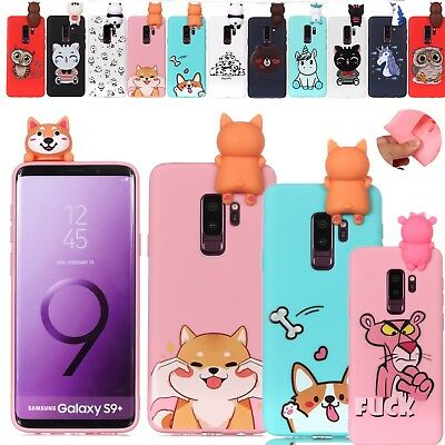 3D Cat Dog Printed Rubber TPU Case Cover For Samsung Galaxy S7/8/9 J3 J5 J7 2017