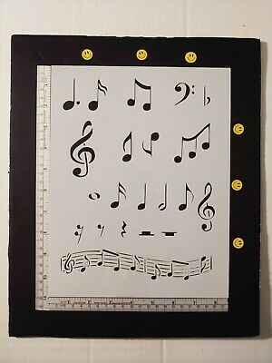"Sheet Music Musical Notes Note 8.5"" x 11"" Stencil FREE SHIPPING"