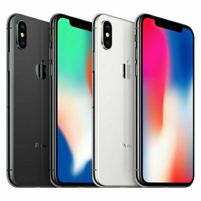 New Apple iPhone X 64GB 256GB Silver Gray Factory Unlocked T-Mobile AT&T Verizon