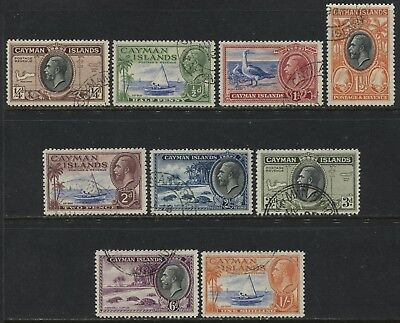 Cayman Islands KGV 1935 1/4d to 1/ used