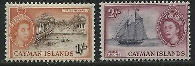 Cayman Islands QEII 1953 1/ & 2/ mint o.g.