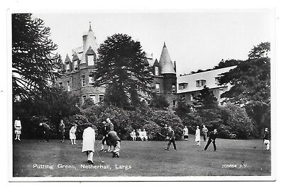 LARGS Postcard Putting Green Netherhall Ayrshire RP 1928 Picture
