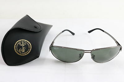 a22ee768b929d Ray Ban RB 3342 Warrior Authentic Gradient Gray Lens Sunglasses W  Case NEW