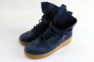 Nike 864024-400 SF AF1 High Top Midnight Navy Blue Sneakers Size 9.5