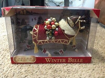 "Breyer Holiday Horse ""winter Belle"" 2011 Model #700111 New In The Box"