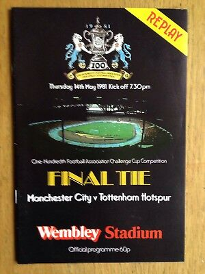 Manchester City v Tottenham Hotspur 1981 FA Cup Final Replay programme